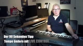 YAMAHA PSR - S970 Workshop 16 - Tempo ändern Mit LIVE CONTROL