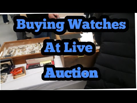 Buying Watches at Live Auction