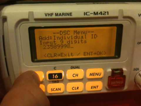 VHF Radio - Inputting another boat's MMSI number