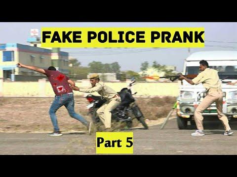 Fake Police Prank Part 5   Bhasad News   Pranks In India 2018