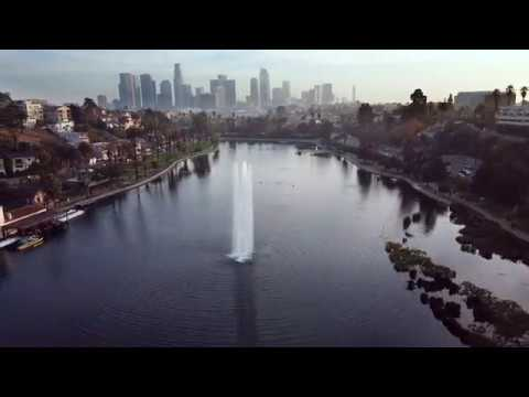 Echo Park Los Angeles Drone 4K