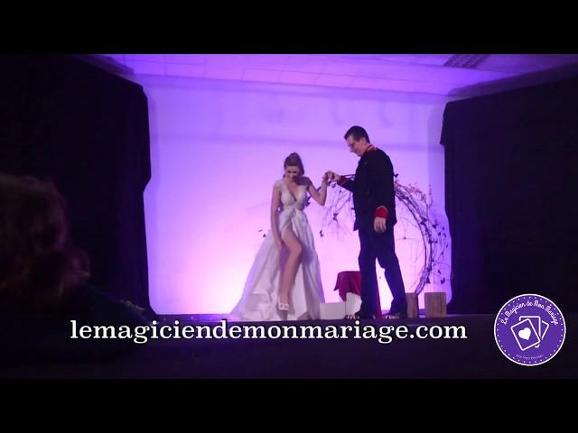 Lévitation de la mariée avec gerbes d'étincelles #mariage #wedding