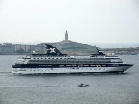 Cruise ship CELEBRITY CENTURY leaving La Coruna bound to Lisbon