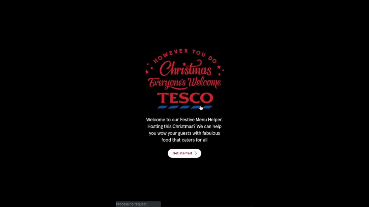 Tesco Festive Menu Helper App