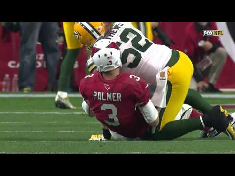 Packers Clay Matthews Punks Carson Palmer After Knocking Him Down! | Packers vs. Cardinals | NFL