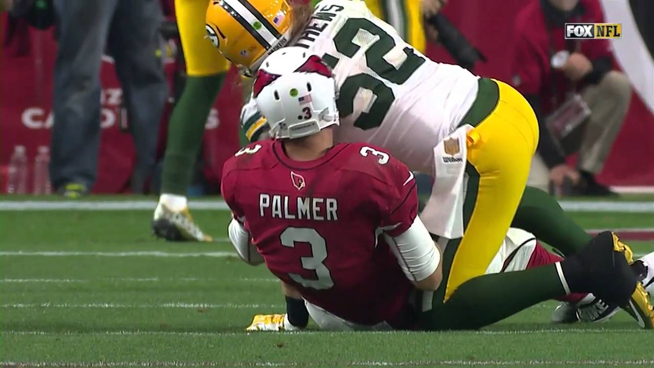 Packers Clay Matthews Punks Carson Palmer After Knocking Him Down
