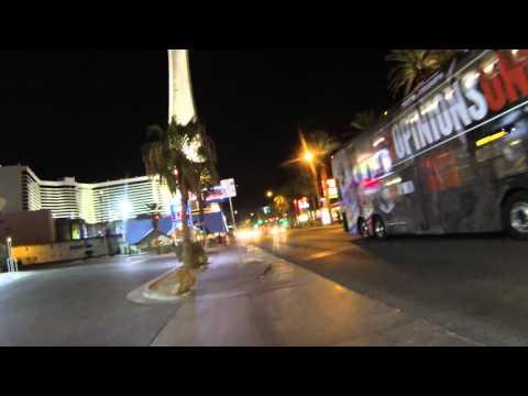 Walking from Bonanza World's Largest Gift Shop toward Stratosphere Casino, Las Vegas, NV,  GOPR9076