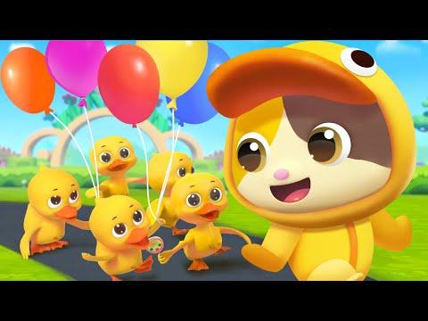五隻小鴨子 | 最新英文兒歌童謠 | Five Little Ducks | 卡通 | 動畫 | 寶寶巴士 | BabyBus