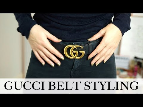 2af0f6368 GUCCI BELT REVIEW & STYLING | LUXURY DESIGNER TRY ON | Em Sheldon - YouTube
