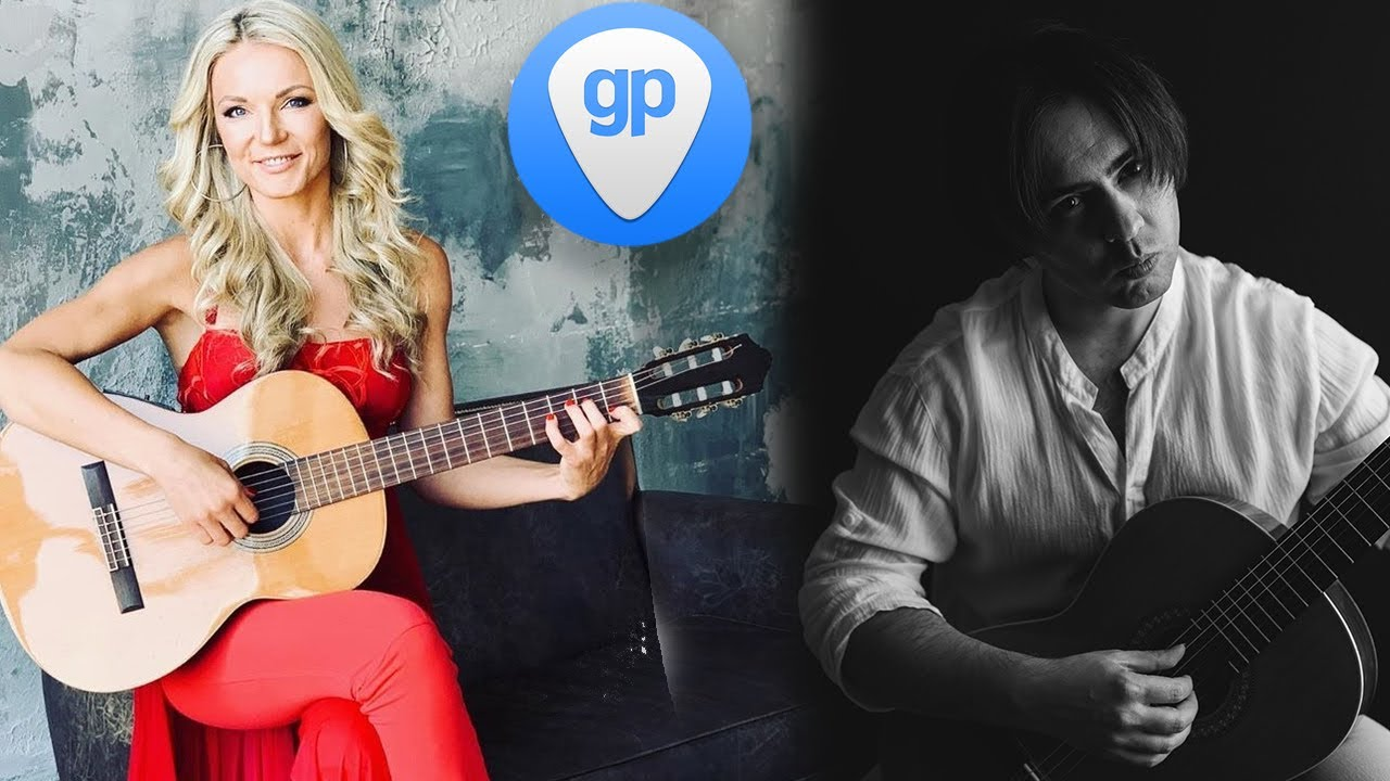 NADiA Kossinskaja and Aleksandr Chuiko Guitar Pro 7 skype lesson | Н. Коссинская и А. Чуйко урок GP7