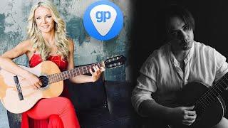 NADiA Kossinskaja and Aleksandr Chuiko Guitar Pro 7 skype lesson Н Коссинская и А Чуйко урок GP7