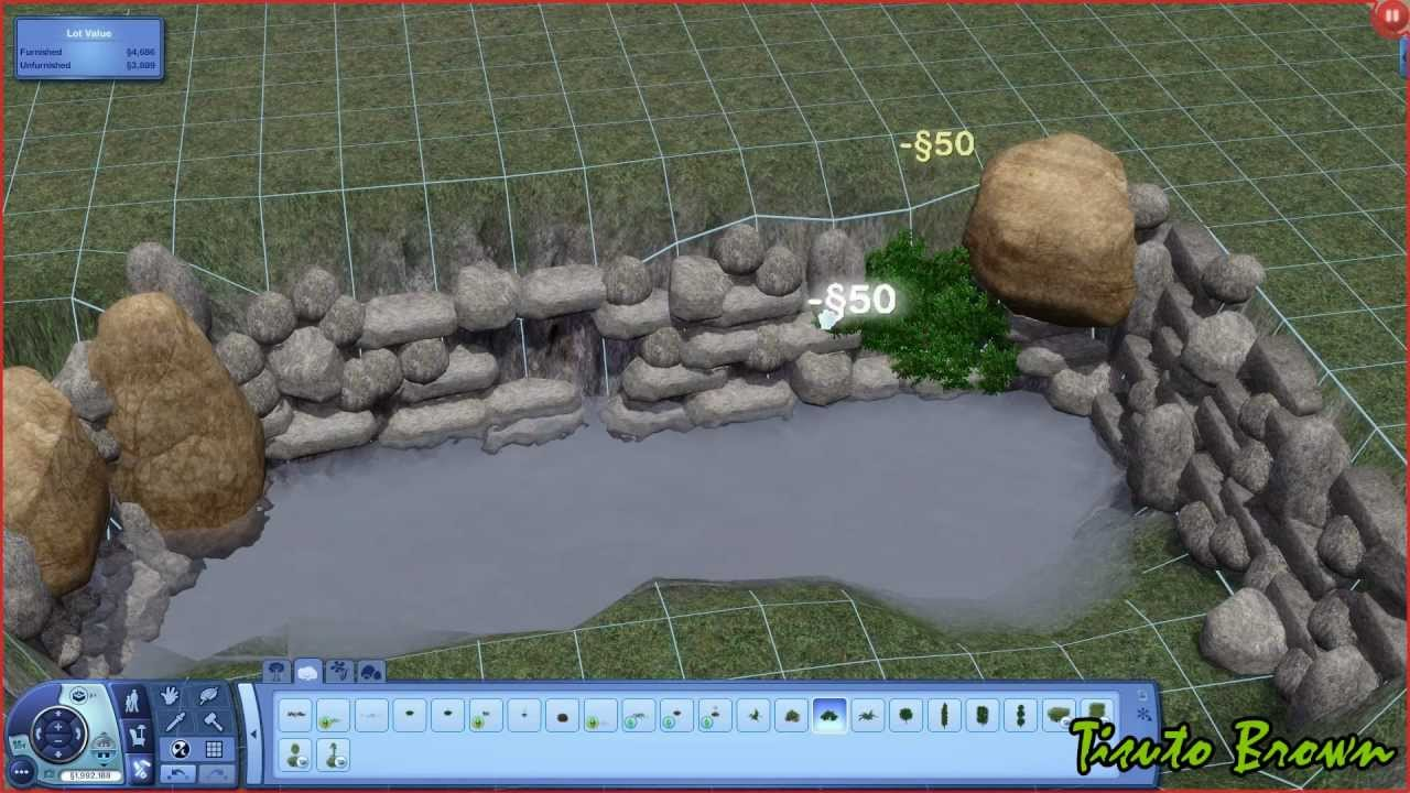 The sims 3 tutorial ponds and waterfalls youtube sisterspd
