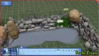 The Sims 3 Tutorial - Ponds and Waterfalls