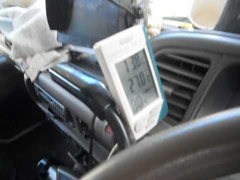 Isuzu Elf 4x4 Air-con indoor & outdoor temperature.