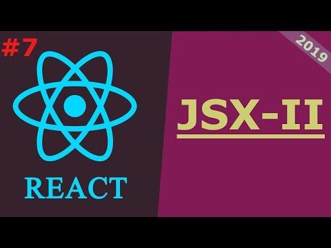 07 React JS Tutorial 2019 JSX Part 2 thumbnail