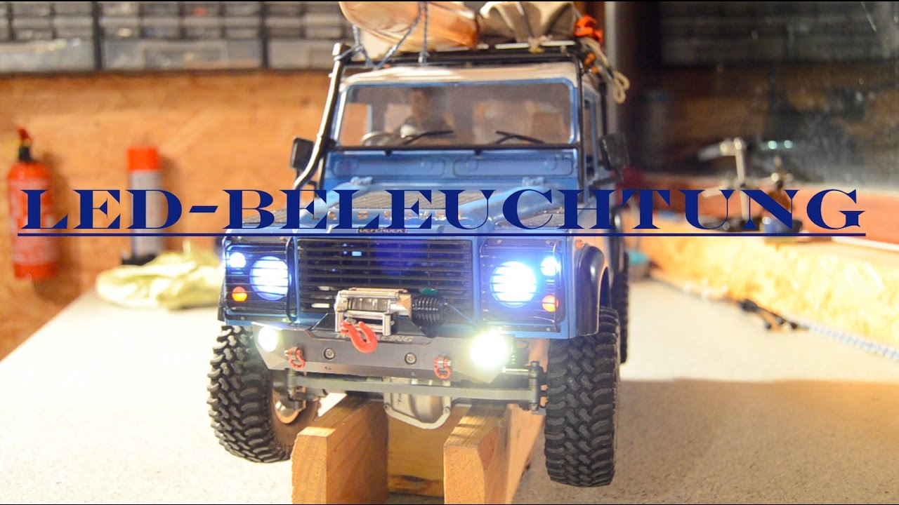 rc scale crawler land rover defender led beleuchtung cti modellbau youtube. Black Bedroom Furniture Sets. Home Design Ideas
