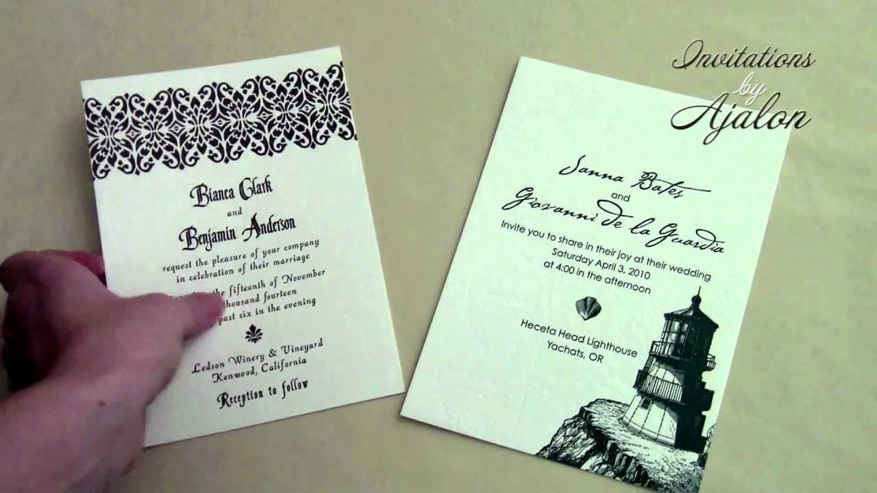 Wording Wedding Invitations Without Parents\' Names - YouTube