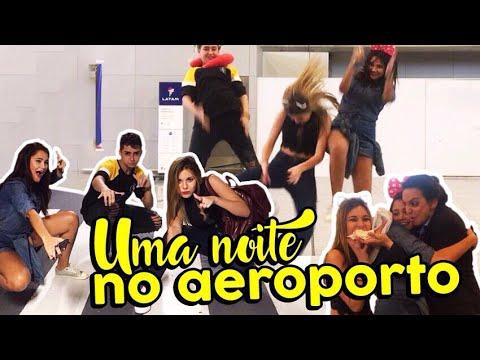 PASSAMOS UMA NOITE NO AEROPORTO (Parte 1)  - DESAFIO DE 100 mil!!!