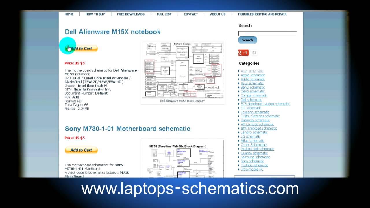 Motherboard schematic & Block Diagrams, Laptop  Notebook Schematics For Repair  YouTube