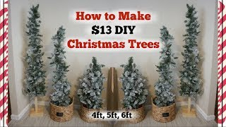 DIY CHRISTMAS TREES | HOW TO MAKE A CHRISTMAS TREE $13 | Momma From Scratch
