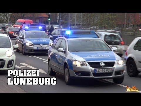 Einsatzfahrten Landes- & Bundespolizei in Lüneburg: ZPKW, SiKW, Polizeibus & FuStWs!