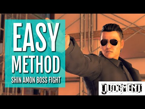 EASY METHOD Shin Amon Boss Fight (HARD Difficulty) | Judgment