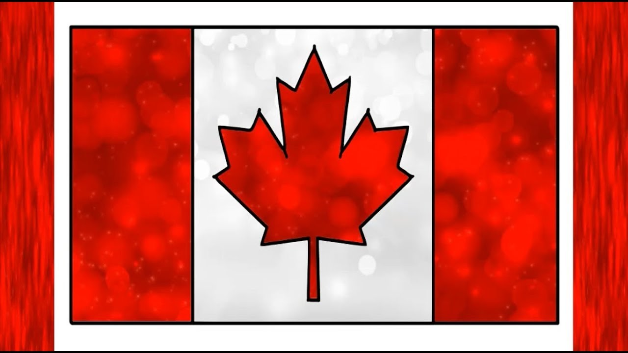 Drawing Canada flag | Colorful Canadian Flag | National ...