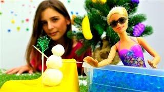 Игры для девочек: снеговик на новый год своими руками