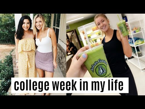 college week in my life | senior year, updates + getting into a routine!