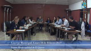 Concejo Municipal Lunes 18 de Febrero 2019 - El Quisco