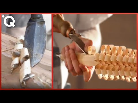 Most Satisfying Wood Carving Technics And Woodworking Tools ▶2
