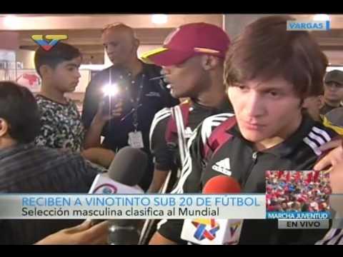 Reciben a la Vinotinto sub20 en aeropuerto Maiquetía tras clasificar a Mundial de Corea