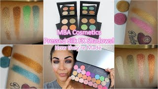 How MBA Cosmetics Pressed Silk FX Shadows are Made!