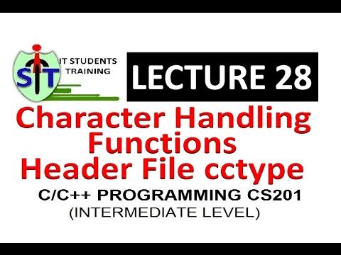 cctype in C++ | ctype.h in C | header file in C/C++ | Character Handling functions