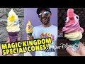 Trying All 3 Disney Magic Kingdom Specialty Ice Cream Cones!