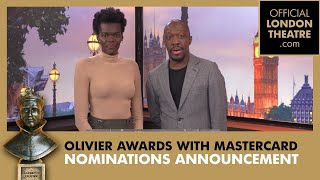 The Olivier Awards 2019 with Mastercard Nominations Announcement