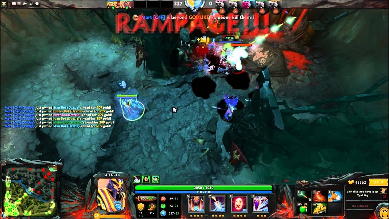 dota 2 bug silencer s glaives of wisdom youtube