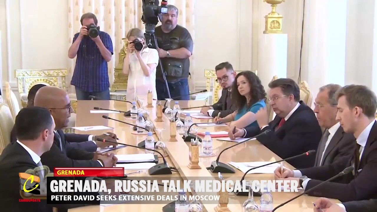 GRENADA'S FOREIGN MINISTER IN RUSSIA