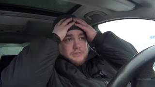 Moskvada qor avariya BMW