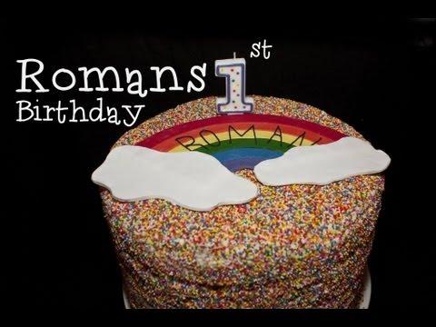 RAINBOW PARTY! Romans 1st Birthday