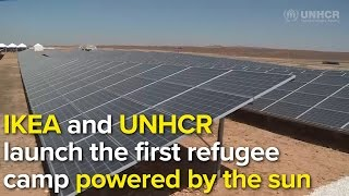 The first solar refugee camp