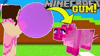 Minecraft: BUBBLE GUM SIMULATOR!!! (FLY INTO THE SKY WITH PETS!) Modded MiniGame