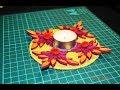 Поделки - Подсвечник в стиле квиллинг, мастер класс. DIY paper quilling candle holder