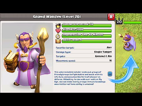 Clash Of Clans - NEW HERO! GRAND WARDEN!!! (FIRST EVER FOOTAGE!!)