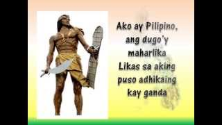 Ako Ay Pilipino lyrics with Kuh Ledesma