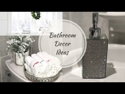 DECORATE WITH ME| CHRISTMAS SMALL BATHROOM DECOR IDEAS 2018