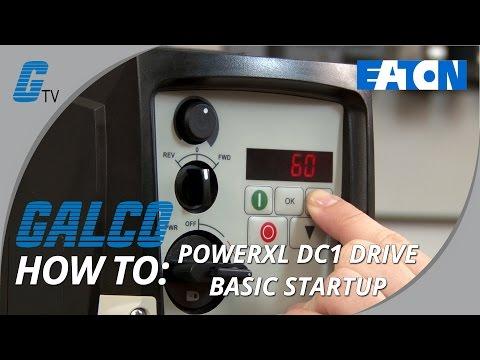 Eaton's PowerXL DC1 Drive Startup Process