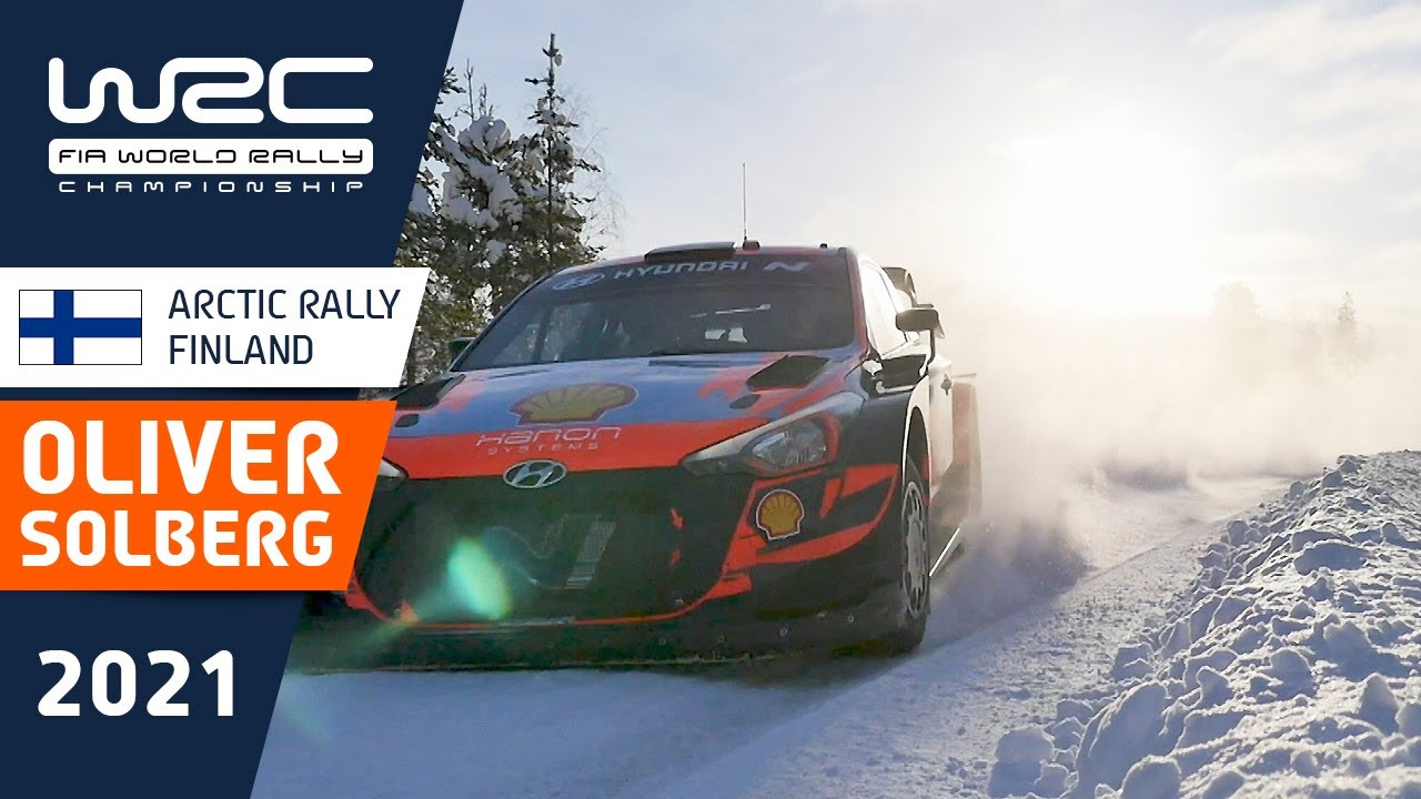 Oliver Solberg ahead of his WRC debut at Arctic Rally Finland 2021