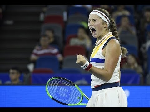 2017 Wuhan Quarterfinals | Garbiñe Muguruza vs. Jelena Ostapenko | WTA Highlights