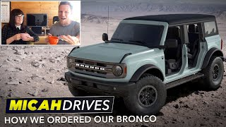 How We Ordered Our New Ford Bronco